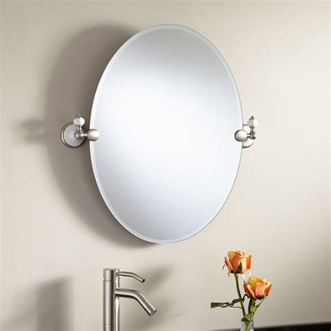 bathroom mirrors adelaide 24 quot adelaide oval tilting mirror modern bathroom mirrors by signature hardware