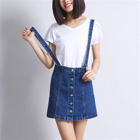 popular denim skirt overalls buy cheap denim skirt