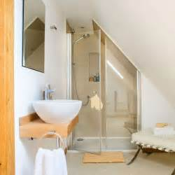 Awkwardly Shaped Bathrooms Designs A Neutral Shower Room With Sloped Ceiling Bathroom