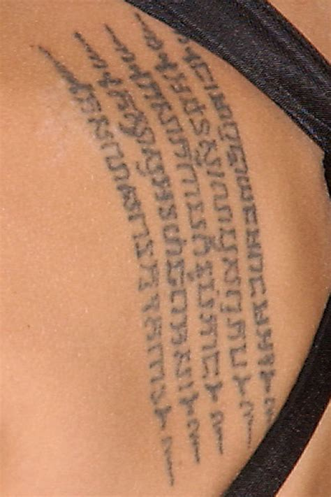 angelina jolie geography tattoo celebrity back tattoos steal her style