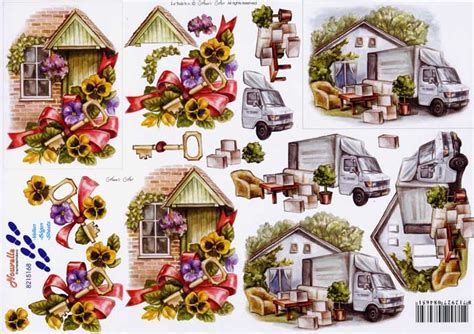 Decoupage 3d - new home 3d decoupage sheet