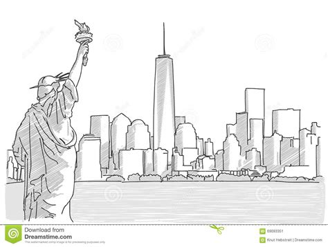 sketchbook for sketch draw and color on large 8 5 x 11 inches white paper blank pages children s books volume 1 books free sketch of new york city skyline with statue of