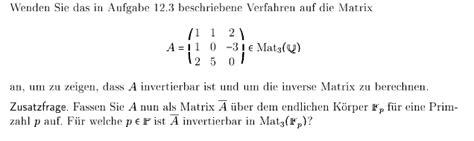 wann ist eine matrix invertierbar zeigen dass a invertierbar ist und um die inverse matrix