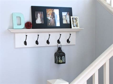 Shelf With Hooks by The Modest Homestead Shelf With Hooks Tutorial