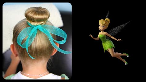 tinker bell hair bun disney hairstyles cute girls