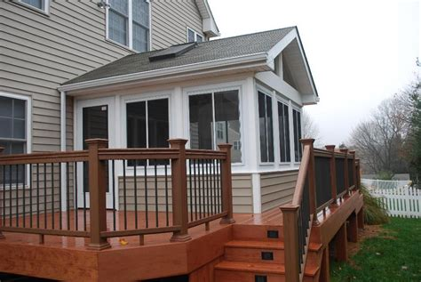 Sunroom On A Deck by Sunroom And Deck Addition Raleigh Sunroom Builder