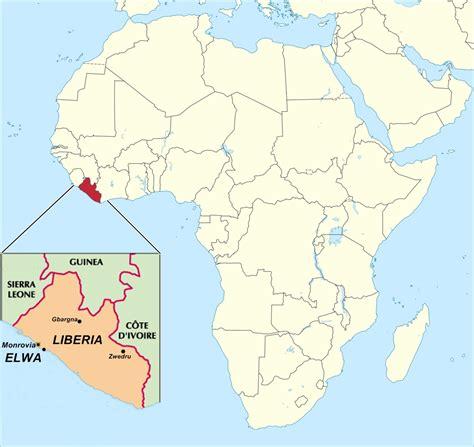 map of liberia liberia serving in liberia