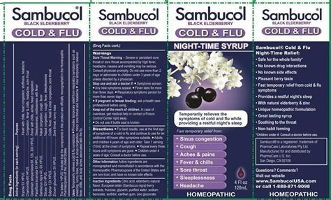 Dijamin Sambucol Cold And Flu sambucol cold and flu time syrup liquid pharmacare