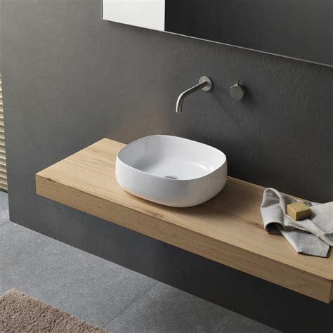 lavelli bagno da appoggio lavabo da appoggio per bagno in ceramica thin 45 by novello