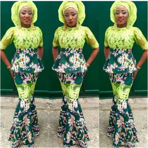 pictures of latest ankara and lace styles on bella naija latest ankara mixed with lace styles