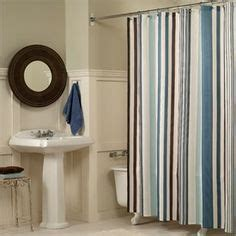 blue and brown striped shower curtain bathroom ideas on pinterest benjamin moore shower