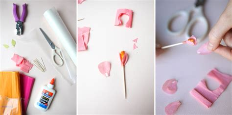 How To Make Miniature Paper Flowers - mini crepe paper flower favors diy