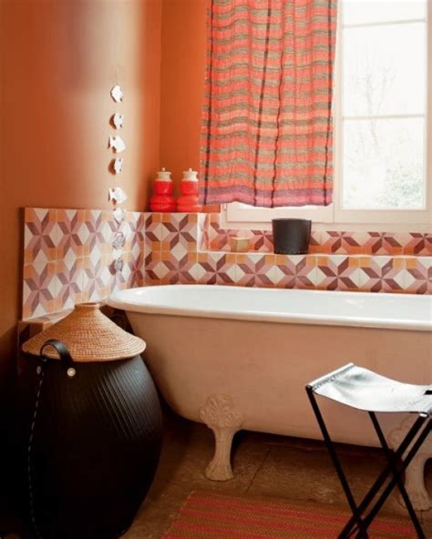 cool orange bathroom design concepts