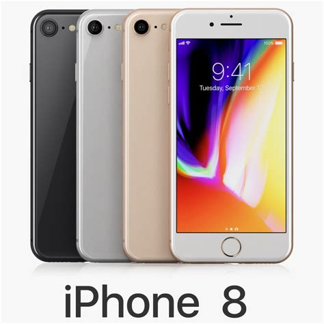iphone 8 colors 3d apple iphone 8 colors turbosquid 1208684