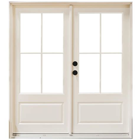 Masterpiece 59 1 4 In X 79 1 2 In Fiberglass White Right Masterpiece Patio Door Reviews