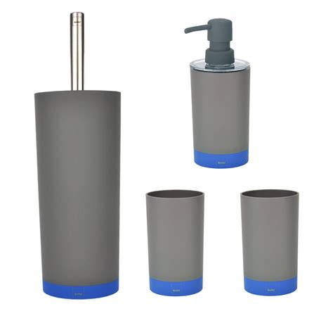 badezimmer set 4 tlg badezimmer set coletta grau blau wc garnitur