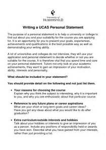 Media Studies Personal Statement Best Template Collection
