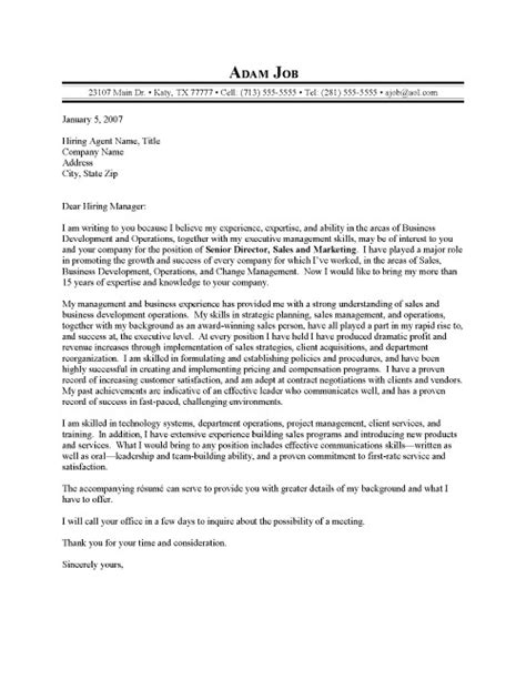 cover letter exles executive sales executive cover letter sle
