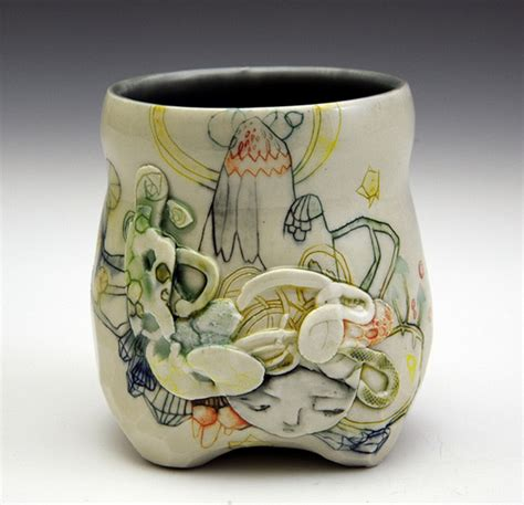 Handmade Ceramics - painted ooak ceramics by summers