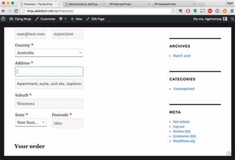Nz Address Finder Addressfinder Documentation Woocommerce