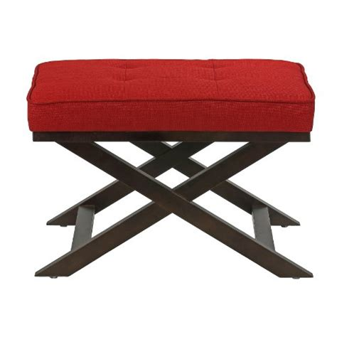X Bench Ottoman Cortesi Home Ari Quot X Quot Bench Ottoman In Linen Fabric With Espresso Wood Legs 819122010633