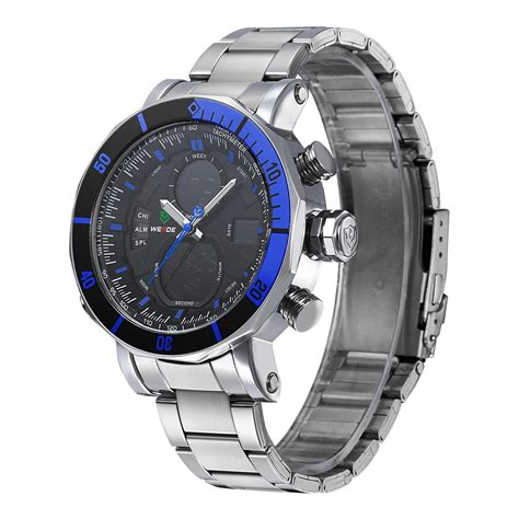 Aaf179 Weide Stainless Sports 30m Water Resist Jam Tangan Wh1101 weide dual time zone stainless quartz led sports 30m water resistance wh5203 blue