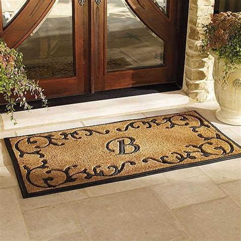 Amherst Monogrammed Door Mat   Traditional   Doormats   by