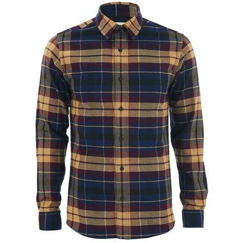 selected homme s george shirt winetasting mens