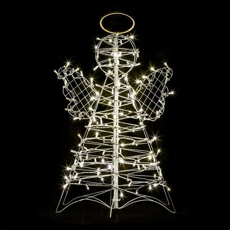 white replacement bulbs for crabpot christmas trees shop crab pot trees 3 ft freestanding light display with white led lights at lowes