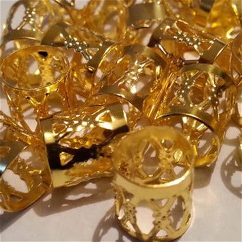 gold dreadlock 10 x gold dreadlock hair cuffs bead from