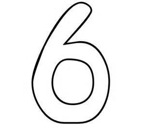 color number printables number 6 color number org