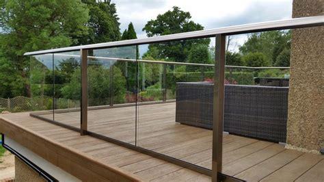 glass balustrade composite decking surrey case study
