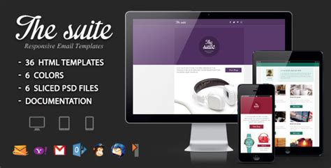 The Suite Responsive Email Template Your Best Themes Responsive Email Template Html Code