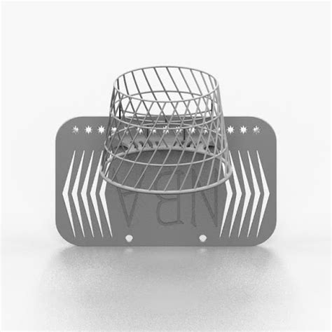 detail of 3d printed product desk basketball hoop by