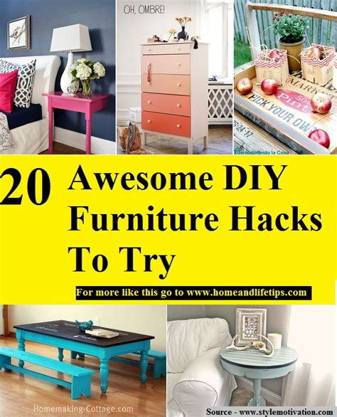 diy furniture hacks 20 awesome diy furniture hacks to try home and life tips