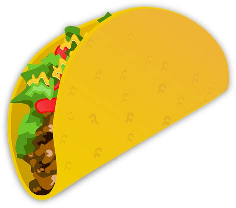 taco clipart taco wrap food 183 free vector graphic on pixabay