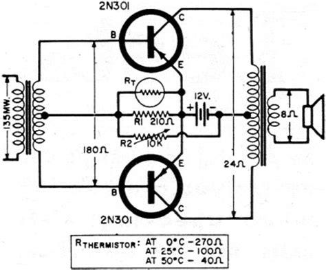 transistor lifier practical circuit push pull class b transistor power output circuits november 1960 electronics world rf cafe