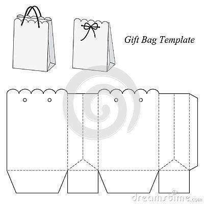gift bag templates free printable interesting gift bag template tasar箟m