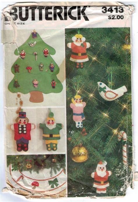 butterick pattern 3413 christmas decorations felt tree