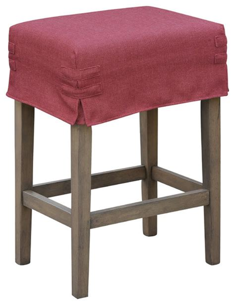 counter stool slipcovers 24 quot saddle stool with slipcover contemporary bar