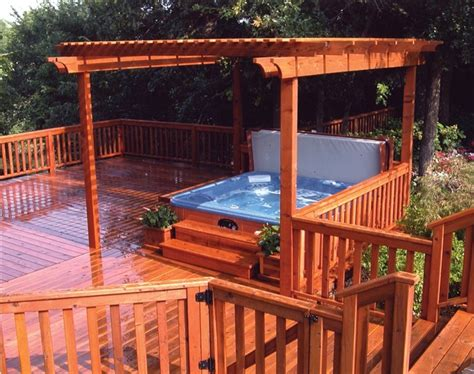 backyard deck ideas with hot tub hot tub deck designs patio traditional with backyard