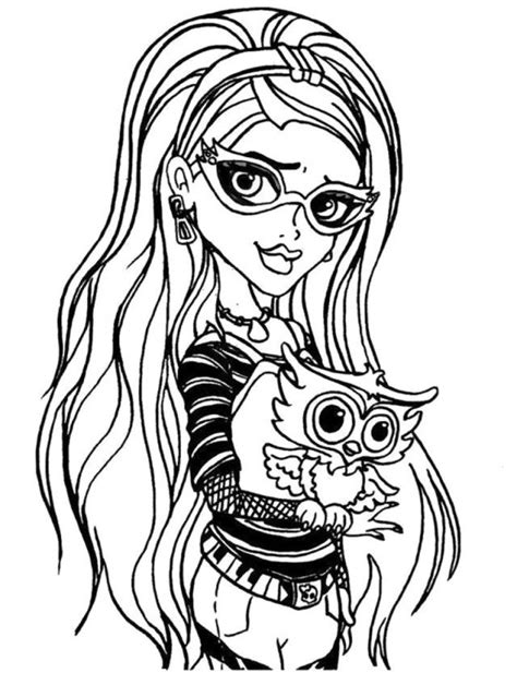 monster high coloring pages ghoulia yelps monster high coloring pages draculaura coloring home