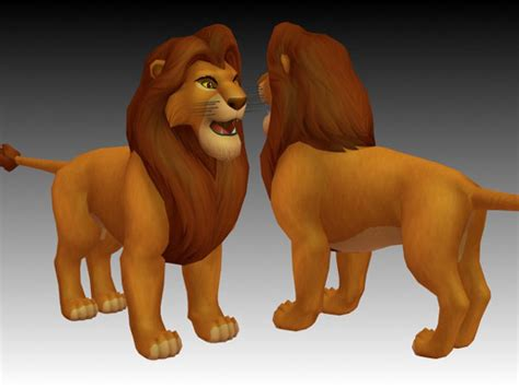 Disney Caracters In Hospital Flooring - king simba 3d model 3ds files free