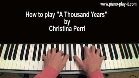 tutorial keyboard a thousand years a thousand years christina perri piano tutorial youtube