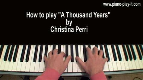 tutorial keyboard lagu a thousand years a thousand years christina perri piano tutorial youtube
