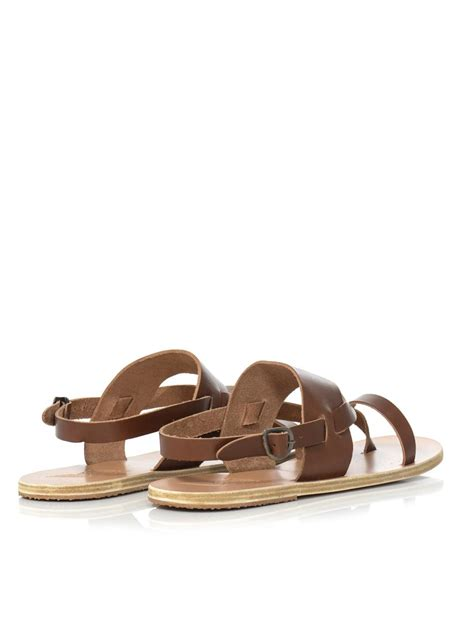 spartan sandals lyst ancient sandals alithis leather sandals in brown