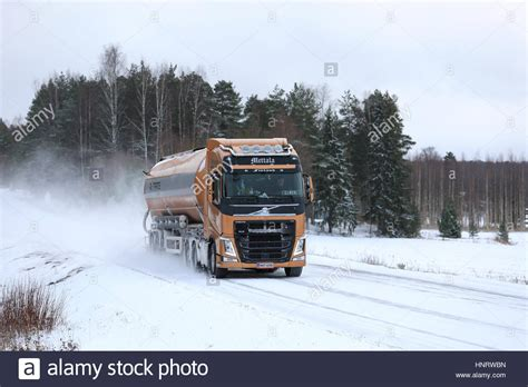 2017 volvo semi salo finland january 7 2017 volvo fh semi tank truck
