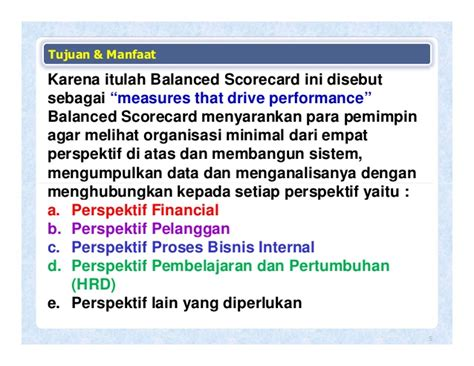 Performance Measurement Ukuran Kinerja 23 informasi software kinerja sofware kinerja performance balanced sco