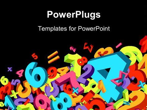 powerpoint template jumble of numbers and math signs in