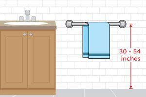 proper height for towel bar installation ehow
